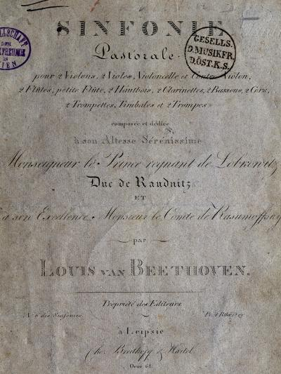 Title Page of Score for Pastoral Symphony No 6 in F Major, Opus 68-Ludwig Van Beethoven-Giclee Print
