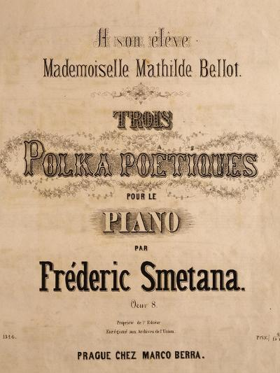 Title Page of Score for Three Poetic Polkas for Piano--Giclee Print