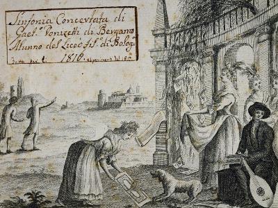 Title Page of Sinfonia Concertata, 1816-Gaetano Donizetti-Giclee Print
