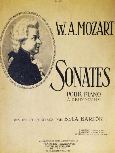 Title Page of Sonatas for Piano for Two Hands--Giclee Print