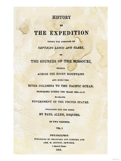 Title Page of the First Publication of Lewis and Clark's Journal and Notes, c.1814--Giclee Print
