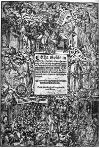 Title Page of the Great Bible, 1539