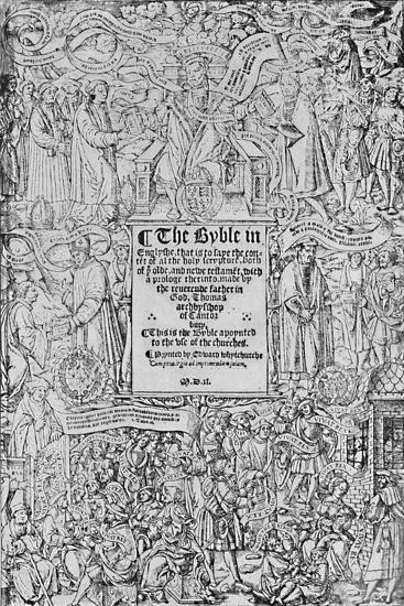 'Title-Page of the Great Bible, 1540, (1903)-Master of Francois de Rohan-Giclee Print