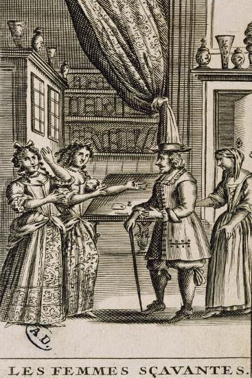 Title Page of the Learned Women by Moliere-Jean Valade-Giclee Print