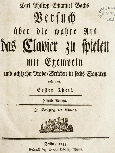 Title Page of Treaty on Harpsichord--Giclee Print