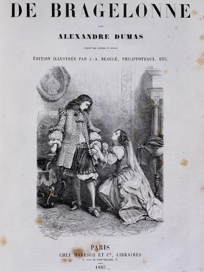Title Page of Viscount De Bragelonne--Giclee Print