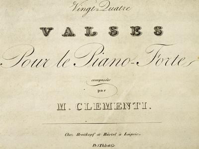 Title Page of Waltz for Piano-Muzio Clementi-Giclee Print