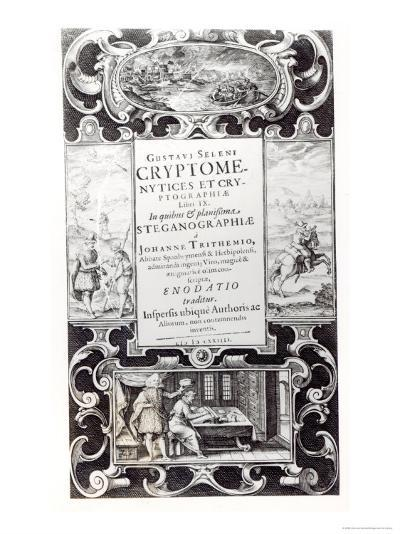 Title Page to Book 9 of Cryptomenysis and Cryptography by Gustavus Selenus--Giclee Print
