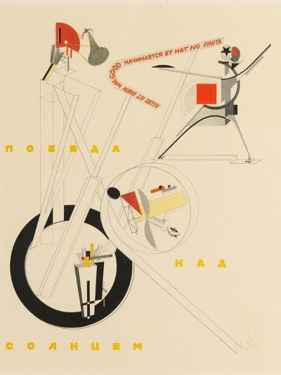 Title Sheet of Victory over the Sun by A. Kruchenykh, 1923-El Lissitzky-Giclee Print