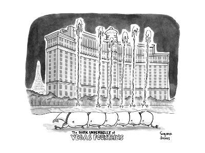 """TITLE """"The DARK UNDERBELLY of VEGAS FOUNTAINS"""" a line of whales lie in cha? - New Yorker Cartoon--Premium Giclee Print"""