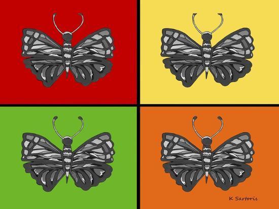 Titled Butterflies-Sartoris ART-Giclee Print