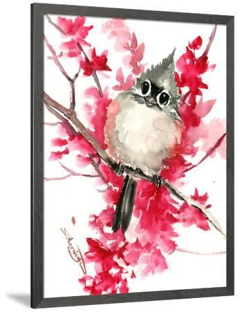 Titmouse And Spring Blossom Children Room 1 Stretched Canvas Print Suren Nersisyan Art Com