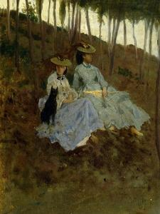 Ladies in Countryside by Tito Conti