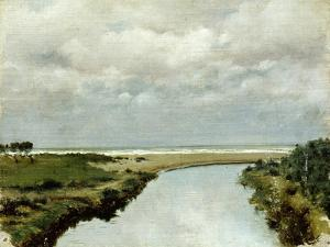 Mouth of Ombrone River by Tito Conti