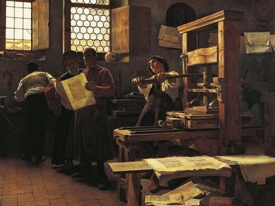 Printer Bernardo Cennini in His Workshop, 1906