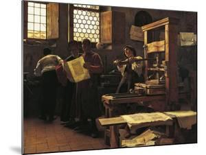 Printer Bernardo Cennini in His Workshop, 1906 by Tito Lessi