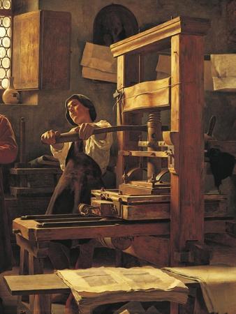 The Printer Bernardo Cennini in His Workshop, 1906