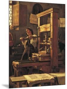 The Printer Bernardo Cennini in His Workshop, 1906 by Tito Lessi