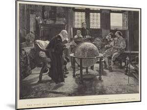Visit of John Milton to Galileo at the Villa D'Arcetri, Near Florence, Italy by Tito Lessi