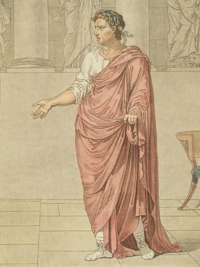 Titus, Costume for Berenice by Jean-Baptiste Racine, Circa 1805-Philippe De Lasalle-Giclee Print