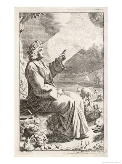 Titus Lucretius Carus Roman Poet and Philosopher-Michael Burghers-Giclee Print