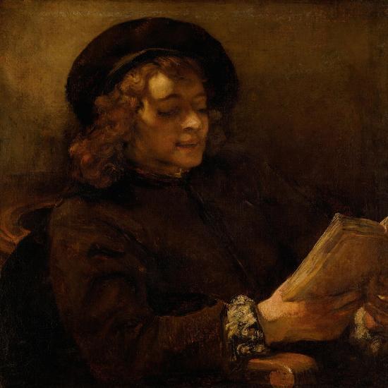 Titus reading, 1656-7-Rembrandt van Rijn-Giclee Print