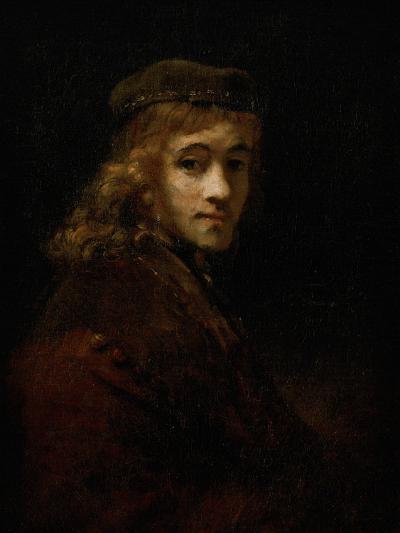 Titus, Rembrandt's Son-Rembrandt van Rijn-Giclee Print