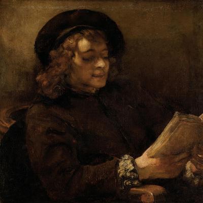 Titus Van Rijn, the Artist's Son, Reading-Rembrandt van Rijn-Giclee Print