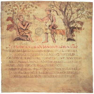 Tityrus Playing the Pipes, 5th Century--Giclee Print