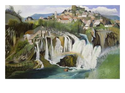 Der Wasserfall Von Jajce, 1903