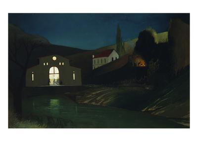 The Electric Power Company in Jajce at Night, 1903