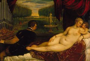 Venus Mit Dem Orgelspieler Und Einem Putto, 1548(?) by Tizian Tiziano Vecellio