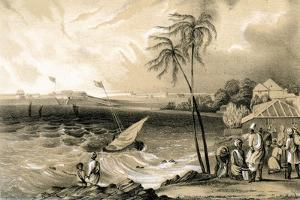 Setting in of the Monsoon, Cannanore Fort, 1847 by TJ Rawlins