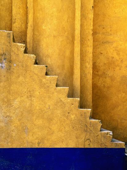 Tlaxcala Stairway at Parroquia De San Jose-Douglas Steakley-Photographic Print