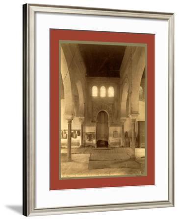 Tlemcen, Central Nave of the Madrasa, Djama Abd Al-Kassem, Algiers-Etienne & Louis Antonin Neurdein-Framed Giclee Print