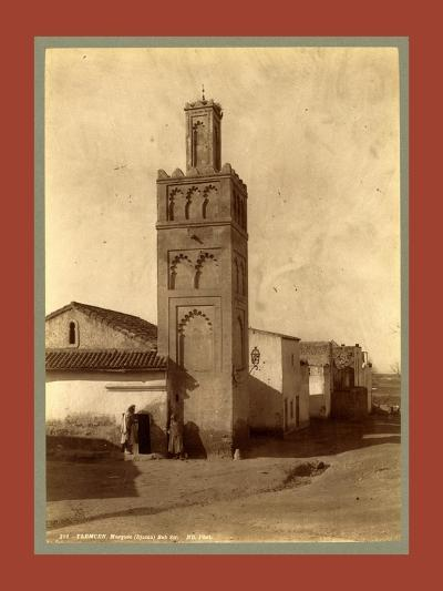 Tlemcen Djama Mosque Bab Zir, Algiers-Etienne & Louis Antonin Neurdein-Giclee Print