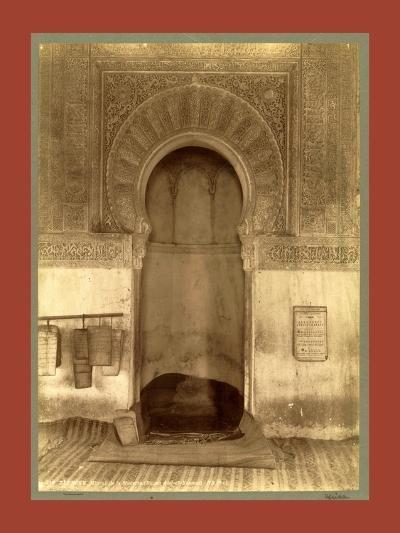 Tlemcen, the Madrasa Mihrab, Djama Abd Al-Kassem, Algiers-Etienne & Louis Antonin Neurdein-Giclee Print