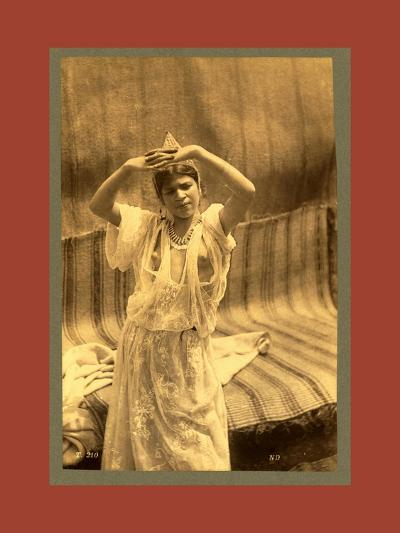 Tlemcen, Young Moorish Woman-Etienne & Louis Antonin Neurdein-Giclee Print