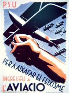 To Defeat Fascism Join the Air Force', Republican Poster, 1937