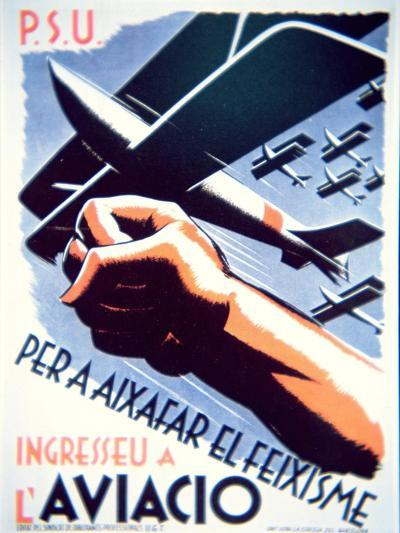 To Defeat Fascism Join the Air Force', Republican Poster, 1937--Giclee Print