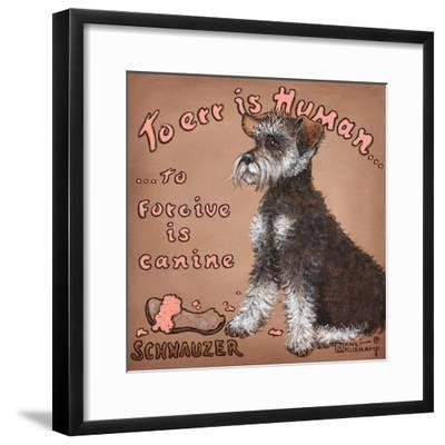 To Forgive Is Canine-Janet Kruskamp-Framed Art Print