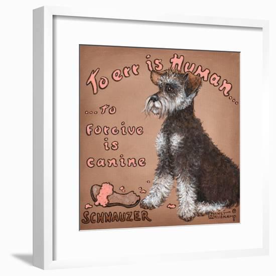 To Forgive Is Canine-Janet Kruskamp-Framed Art Print