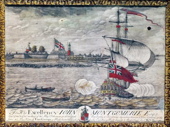 To His Excellency John Montgomerie Esq. (View of Fort George)-William Burgis-Giclee Print