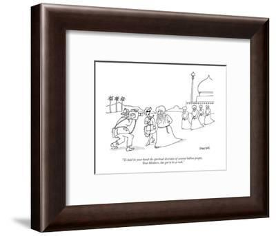 """To hold in your hand the spiritual destinies of several billion people, Y?"" - New Yorker Cartoon-Jack Ziegler-Framed Premium Giclee Print"