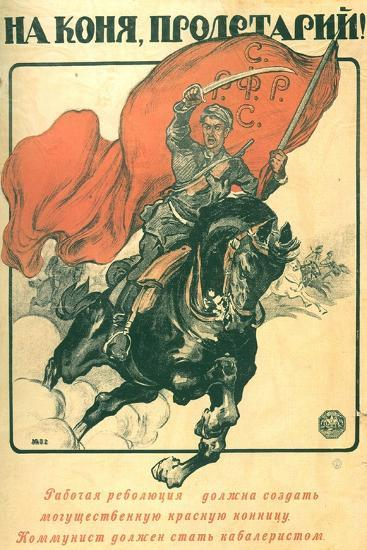 To Horse, Proletarian!, 1918-Alexander Petrovich Apsit-Giclee Print