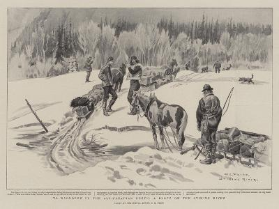 To Klondyke by the All-Canadian Route, a Block on the Stikine River-Charles Edwin Fripp-Giclee Print