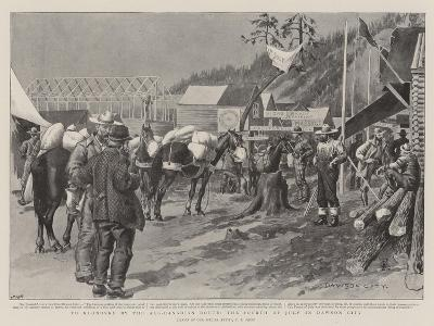 To Klondyke by the All-Canadian Route, the Fourth of July in Dawson City-Charles Edwin Fripp-Giclee Print