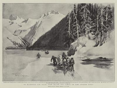To Klondyke for Gold, View Below the Canon on the Stikine River-Charles Edwin Fripp-Giclee Print