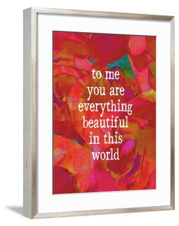 To Me You Are Everything-Lisa Weedn-Framed Giclee Print