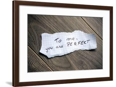 To Me, You Are Perfect-maxmitzu-Framed Art Print